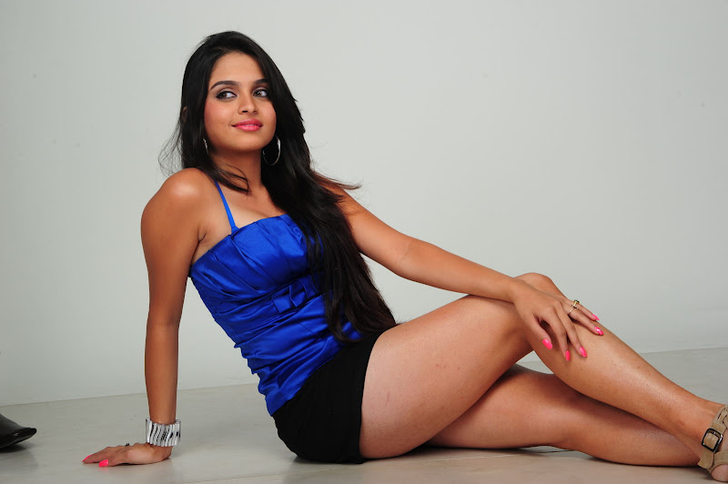 Sheena Shahabadi in Blue Dress Skirt Photo Gallery