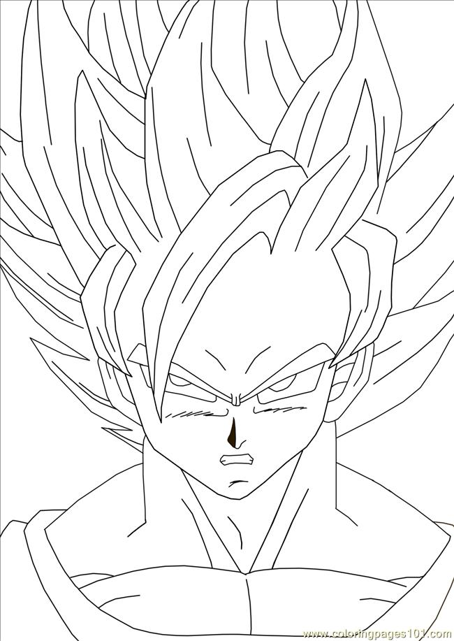 Goku dragon ball coloring pages kids coloring pages for Goku coloring page