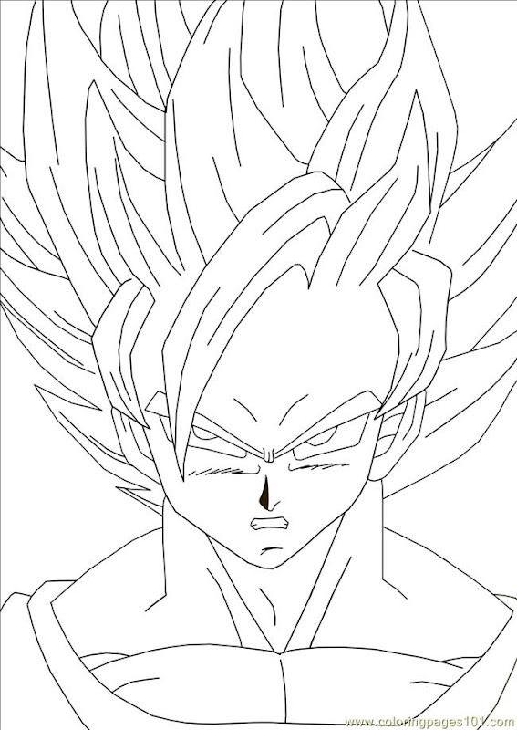 Dragon ball coloring pages coloring pages gallery for Dbz coloring pages goku
