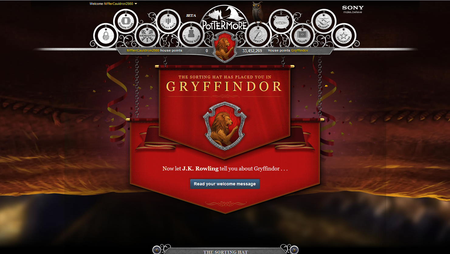 Drizzled in awesomeness ive started pottermore ing biocorpaavc Images