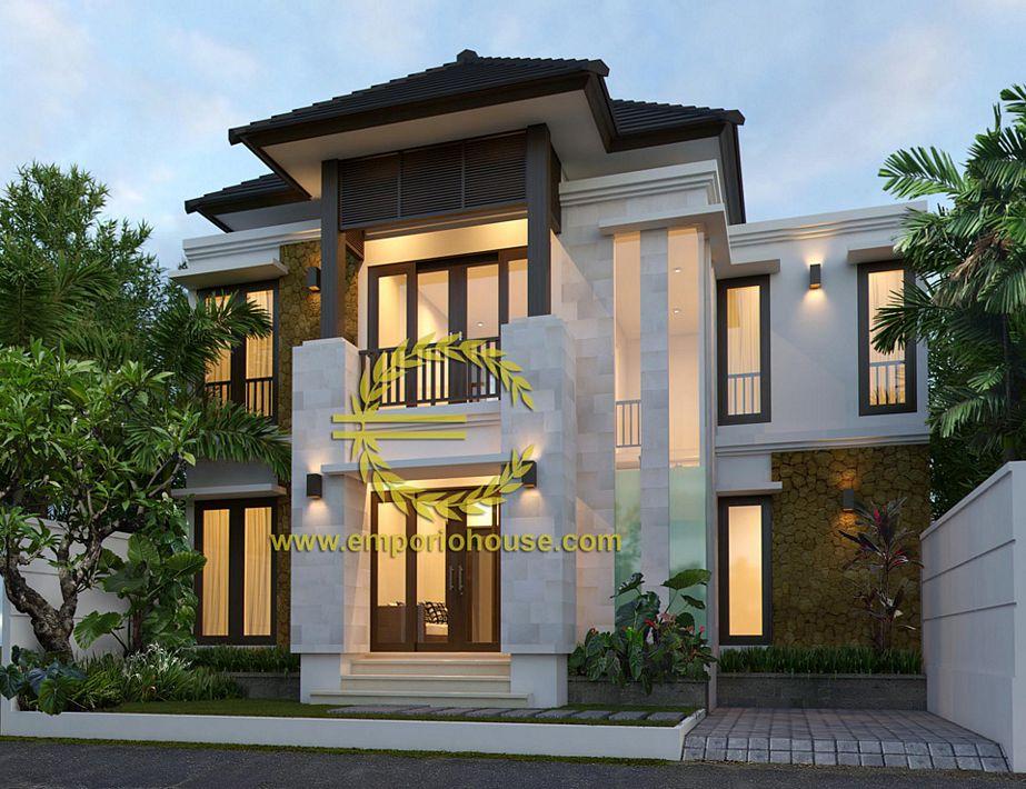 gambar rumah gaya tropis modern 2 lantai idaman