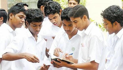 sri lanka students discussing advanced level paper