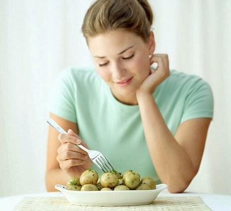Fun Diet With Eating Potato