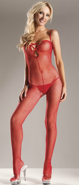 Lace Up Front Queen Size Body Stocking