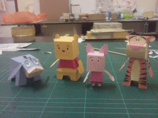 Winnie The Pooh Family Paper Toys