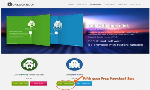 ... PC, pilih Free Download, untuk Free Download UnLockRoot, supaya tidak