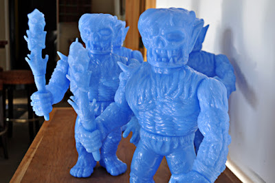 Light Blue Unpainted Abominox Vinyl Figure by Skinner