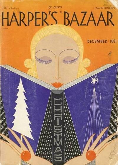 harpers bazaar 1931 christmas cover