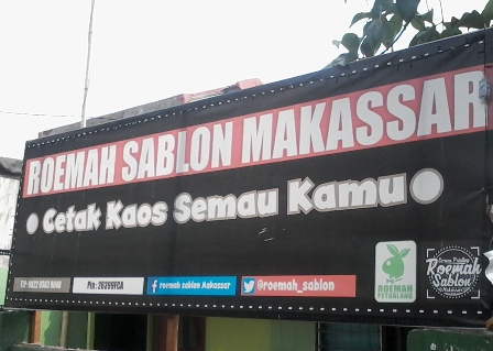 Sablon Makassar pecandu ketinggian kaos