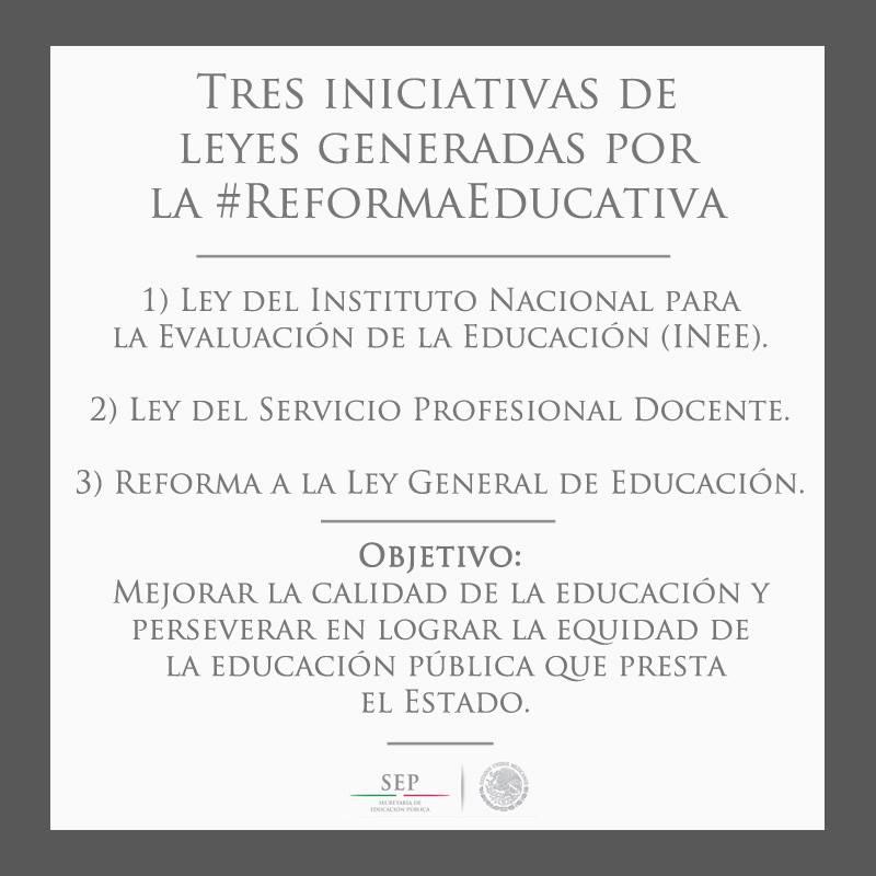 iniciativas de leyes de la reforma educativa