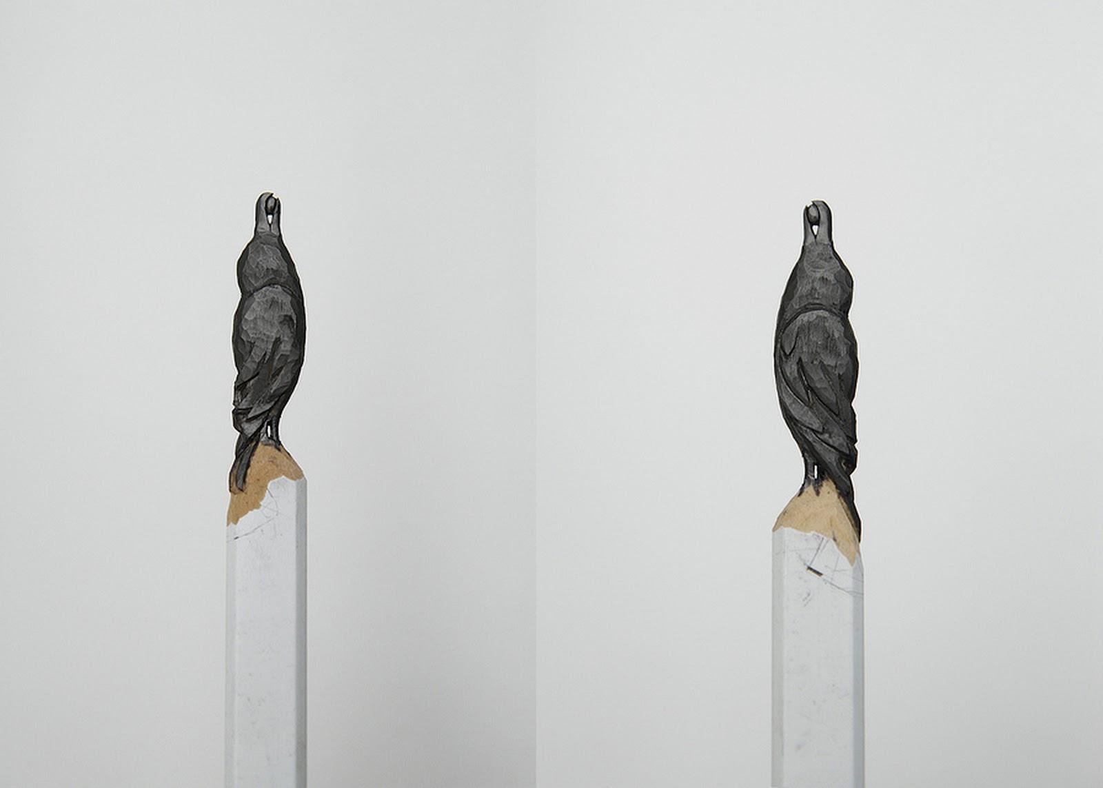 Graphite pencil carvings by diem chau junkculture