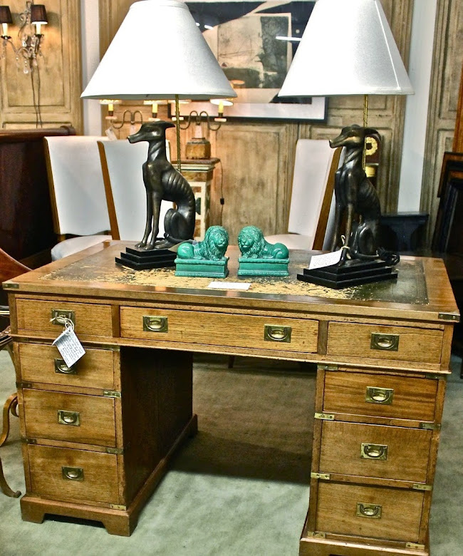 MJH Design Arts, Featuring a superb English c 19th  Petit Campaign Desk!