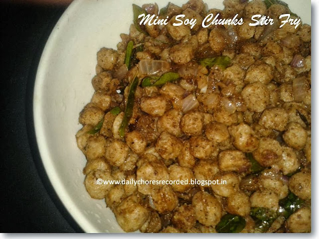Mini Soy Chunks Stir Fry