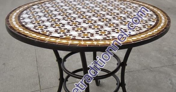 zellige moderne marocain table en mosa239que zellige de