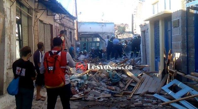 Σεισμός Λέσβος: Τις πληγές του από τα 6,1 Ρίχτερ μετράει το νησί – Ισοπεδώθηκε το χωριό Βρίσα