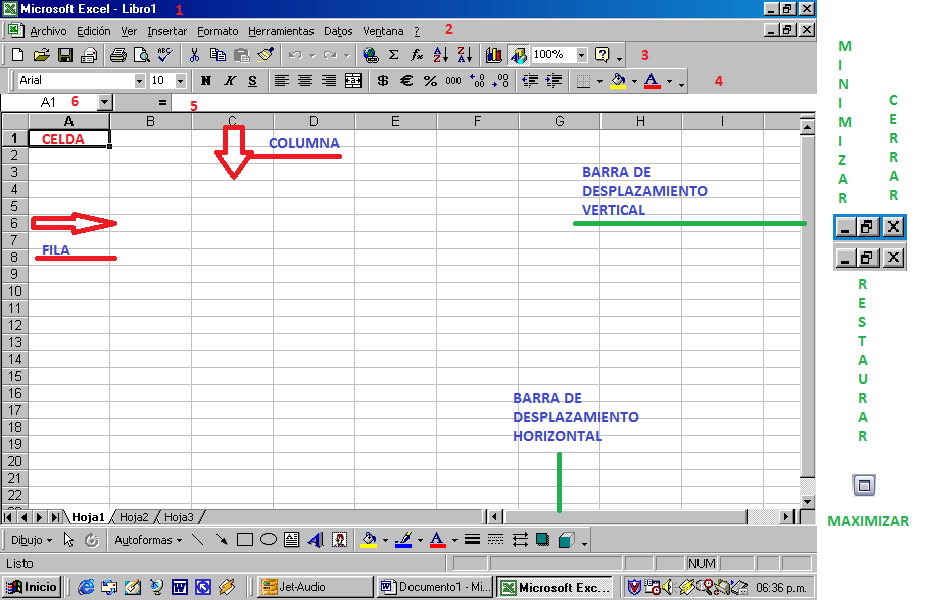 Barras de Menu de Excel Barra de Menu