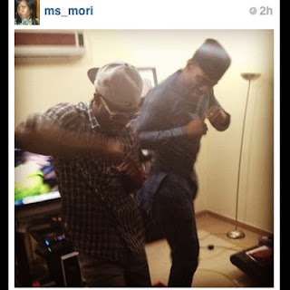 Photo: @PeterPsquare Teaching @ToolzO And Ebuka How To Dance Alingo