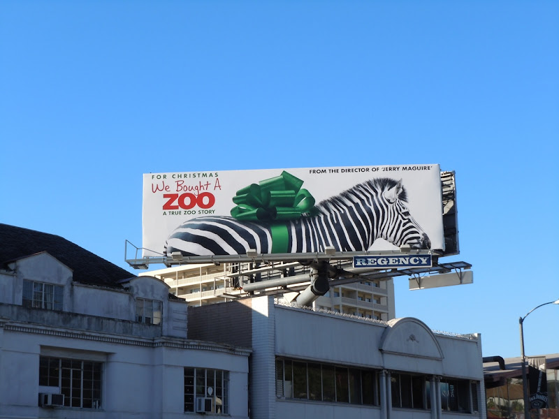 We Bought a Zoo movie billboard