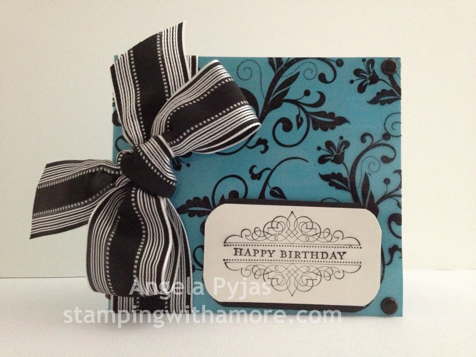stampingwithamore flowering flourishes stampin'up birthday card, Birthday card