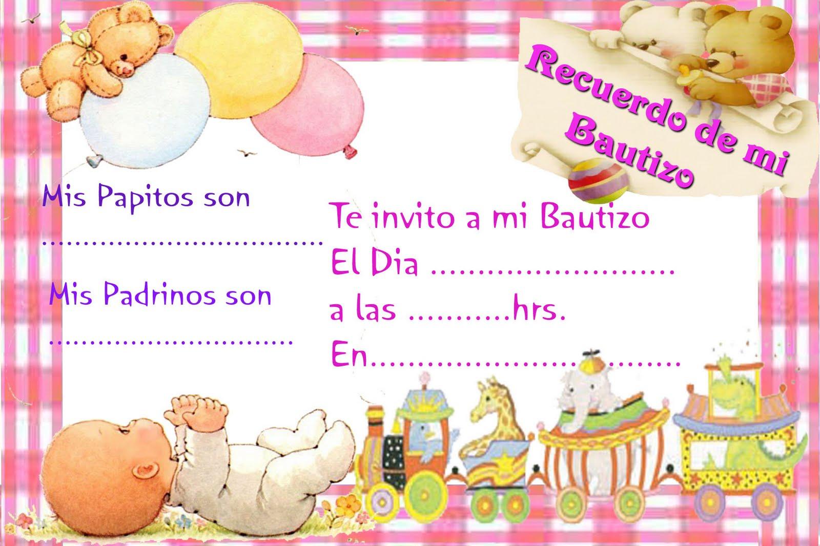 Invitaciones De Bautizo Para Imprimir Gratis