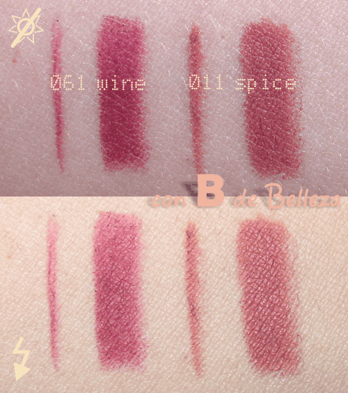 Swatches lápices labios Rimmel