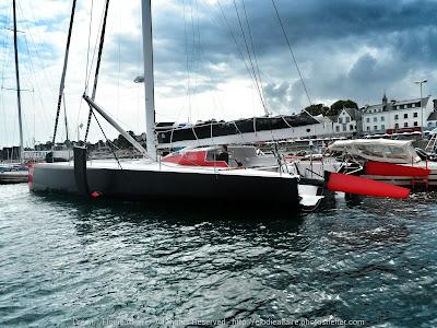 L'IMOCA à poste à La Trinité sur Mer