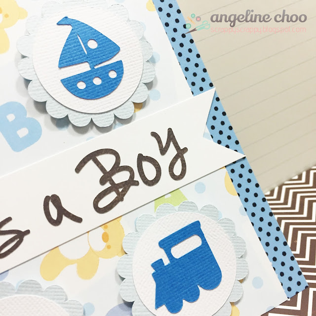 ScrappyScrappy: Baby Boy Card with Angeline #svgattic #scrappyscrappy #babyboy #card #svg #cutfile