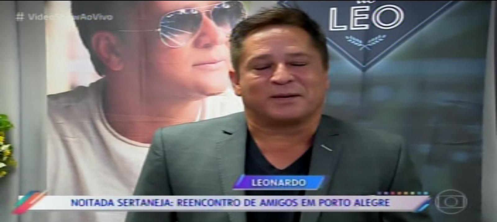 MATÉRIA do Leonardo e amigos programa vídeo show em Porto Alegre 23 4 2018