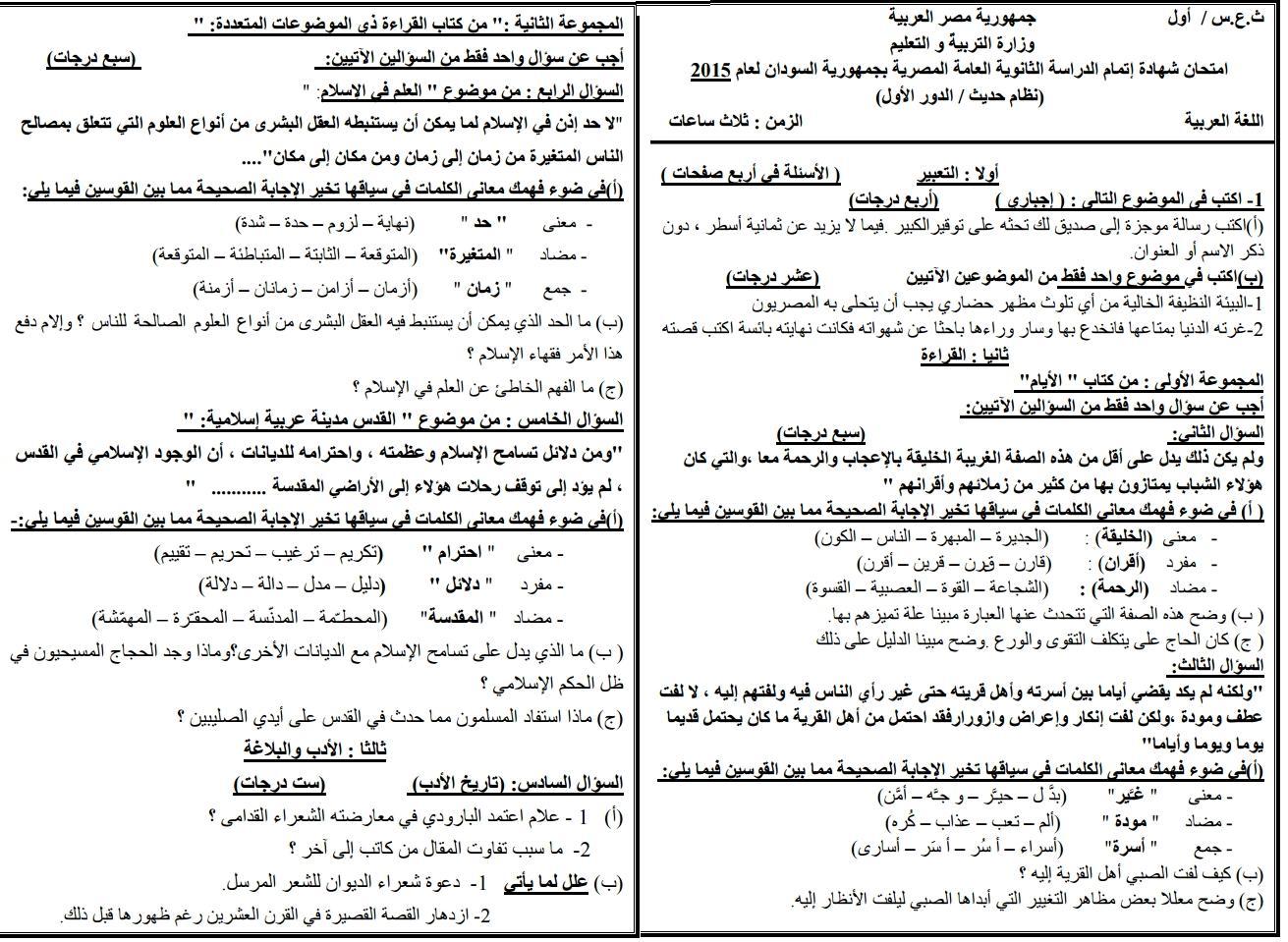 بالصور كل امتحانات الثانوية العامة 2015 بالسودان مجمعة فى مكان واحد - صفحة 2 Moha071