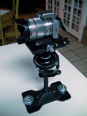 Sony NEX-5n mounted on the MiniDV Stabilizer