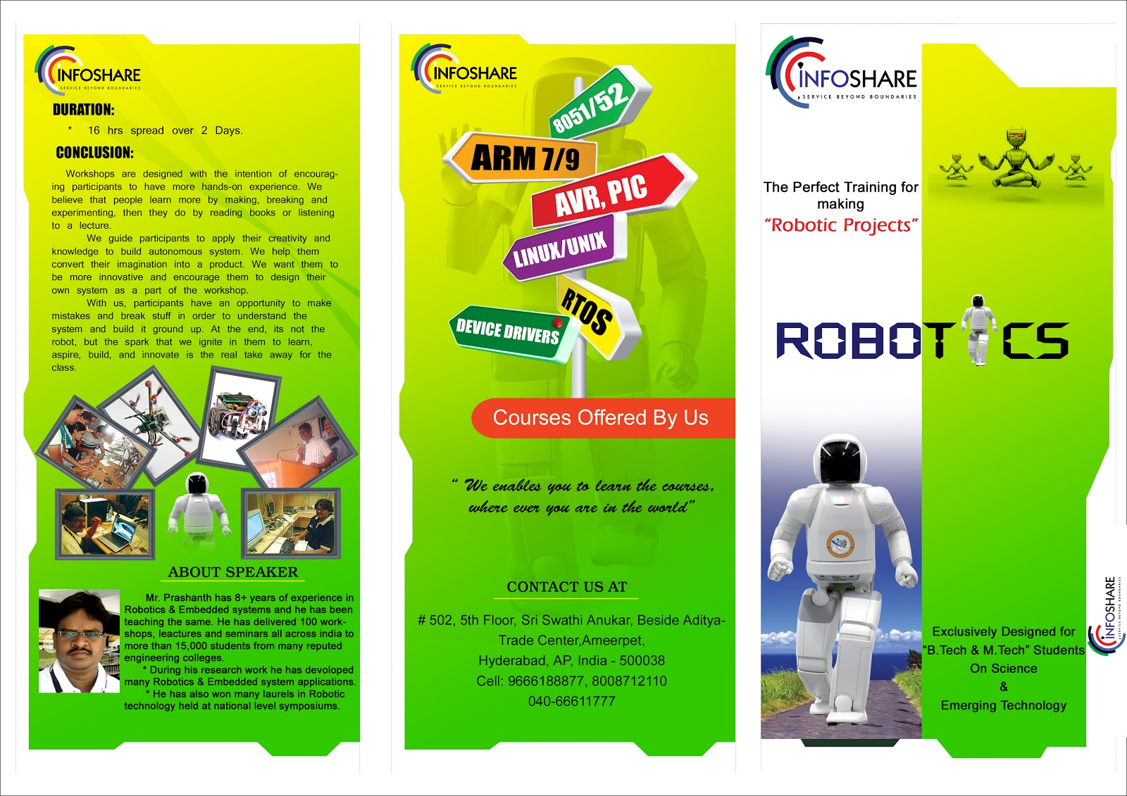 Srinivas Yuva Creations Folding Robotic Brochure