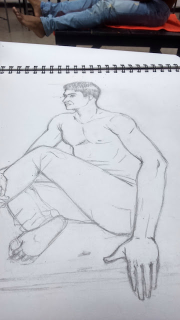 Dibujo con modelo