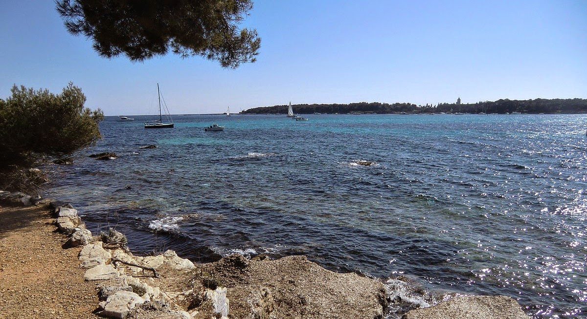 Ile St-Honorat seen from the southern shore of Ste-Marguerite