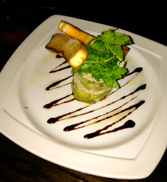 Crab and Avocado Stack, Brown's Cardiff