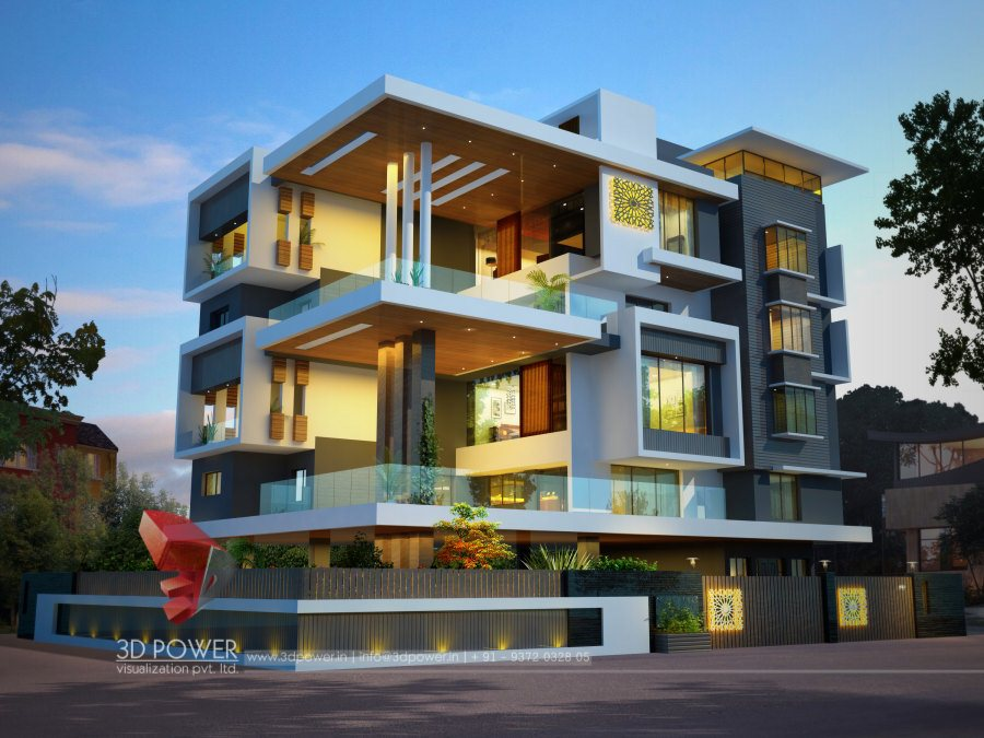 Ultra modern home designs home designs 3d exterior home for Architecture design for home in mysore