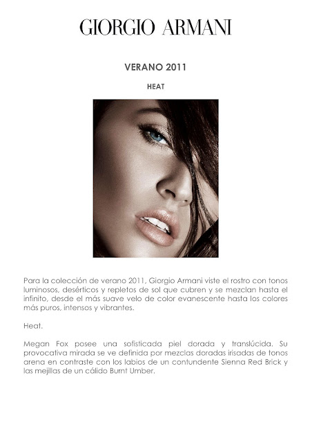 Giorgio Armani y Megan Fox- Colección verano 2011