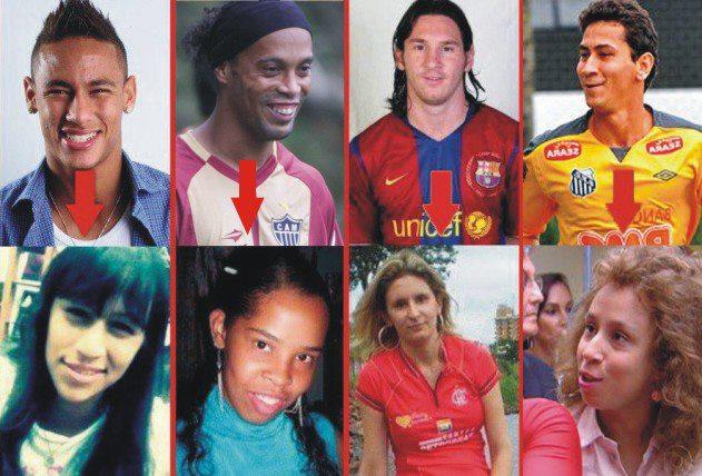 Neymar, Ronaldinho, Messi e Ganso