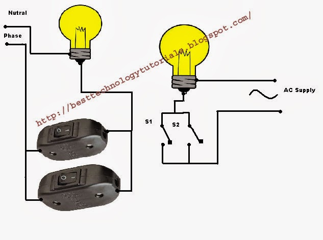 how to connect switches in parallel electrical technology info rh electricaltechnologyinfo blogspot com Series Vs. Parallel Lights Parallel Fluorescent Lights