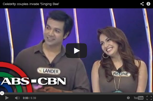 Celebrity couples invade 'Singing Bee'  the Video