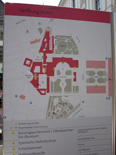 A poster showing the layout of the Hoffburg Palace in Vienna