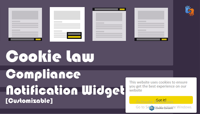 cookie compliance widget blogger bloggigngehow