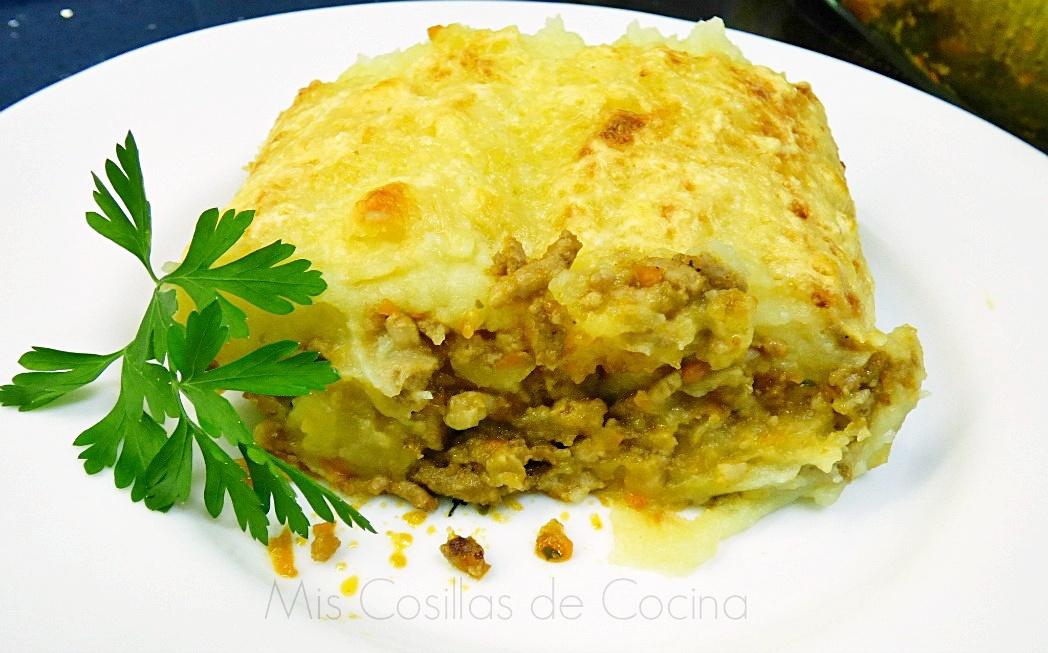Pastel de carne y patata gratinado mis cosillas de cocina - Gratinado de patata ...