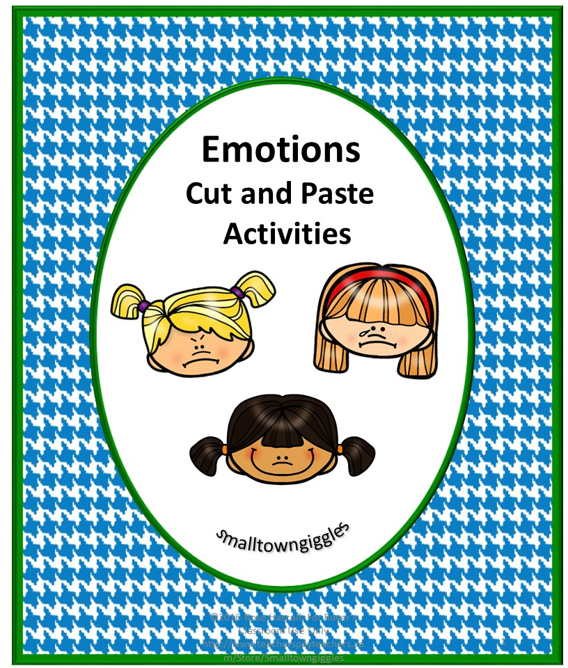 Emotions Cut and Paste Activities