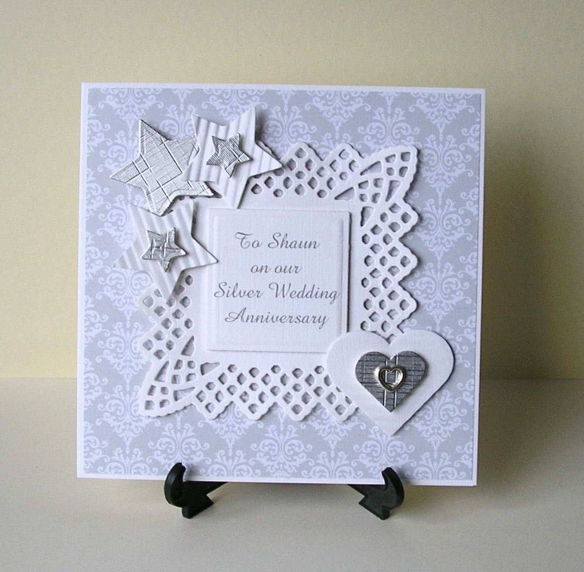 Cards From Lynnes Loft Silver Wedding Anniversary