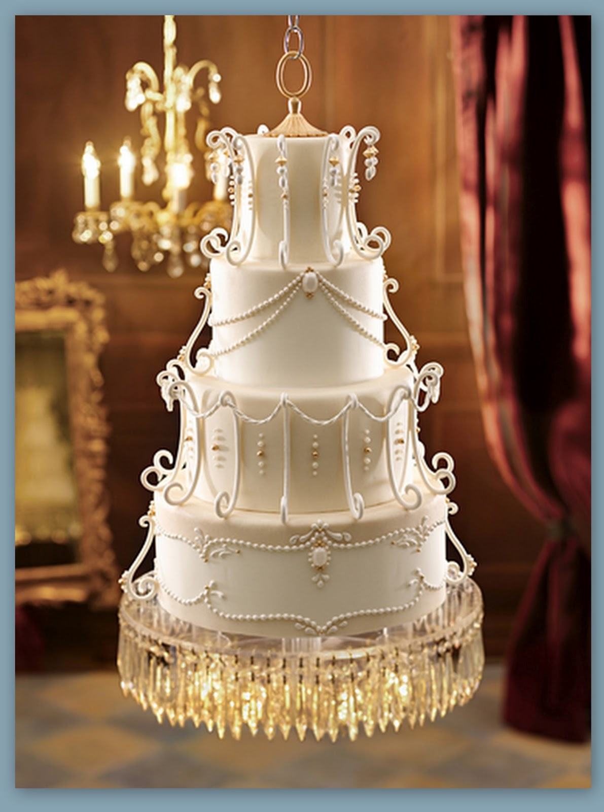 Wedding cake chandelier frame hanging chandelier wedding cake wedding cake chandelier frame on the budget vintage wedding style arubaitofo Image collections