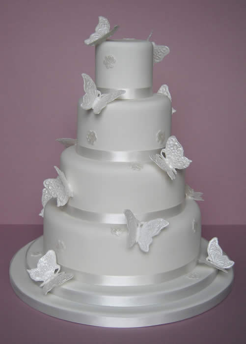 Cake Design Butterfly : Romantic Wedding Cakes with butterfly Decoration / Wedding ...