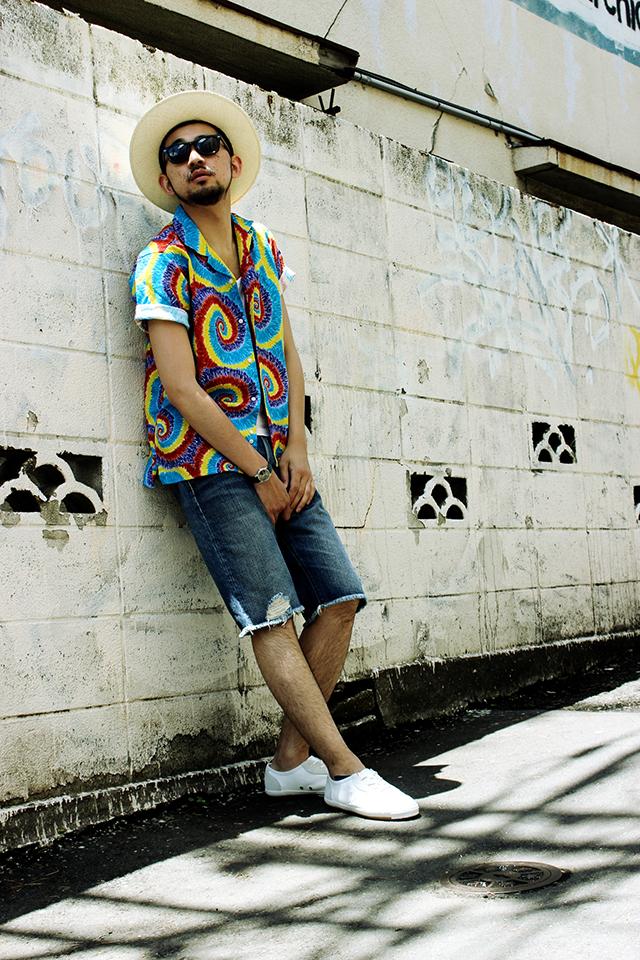 "Gitman Vintage ""Rainbow Spiral"" S/S Camp Shirts size M 25,704yen"