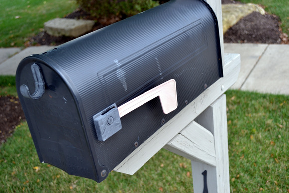 Mailbox before the transformation.