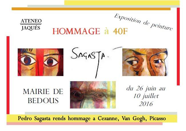 """Exposition/Exposición """"Tributo en 40-F"""" de Pedro Sagasta"""