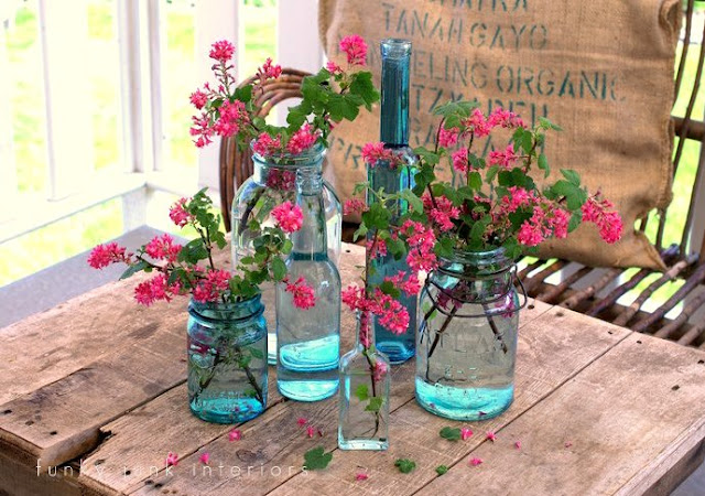 Quirky uses for mason jars, via Funky Junk Interiors